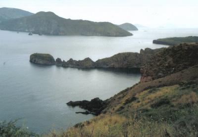 Západné pobrežie ostrova Vulcano